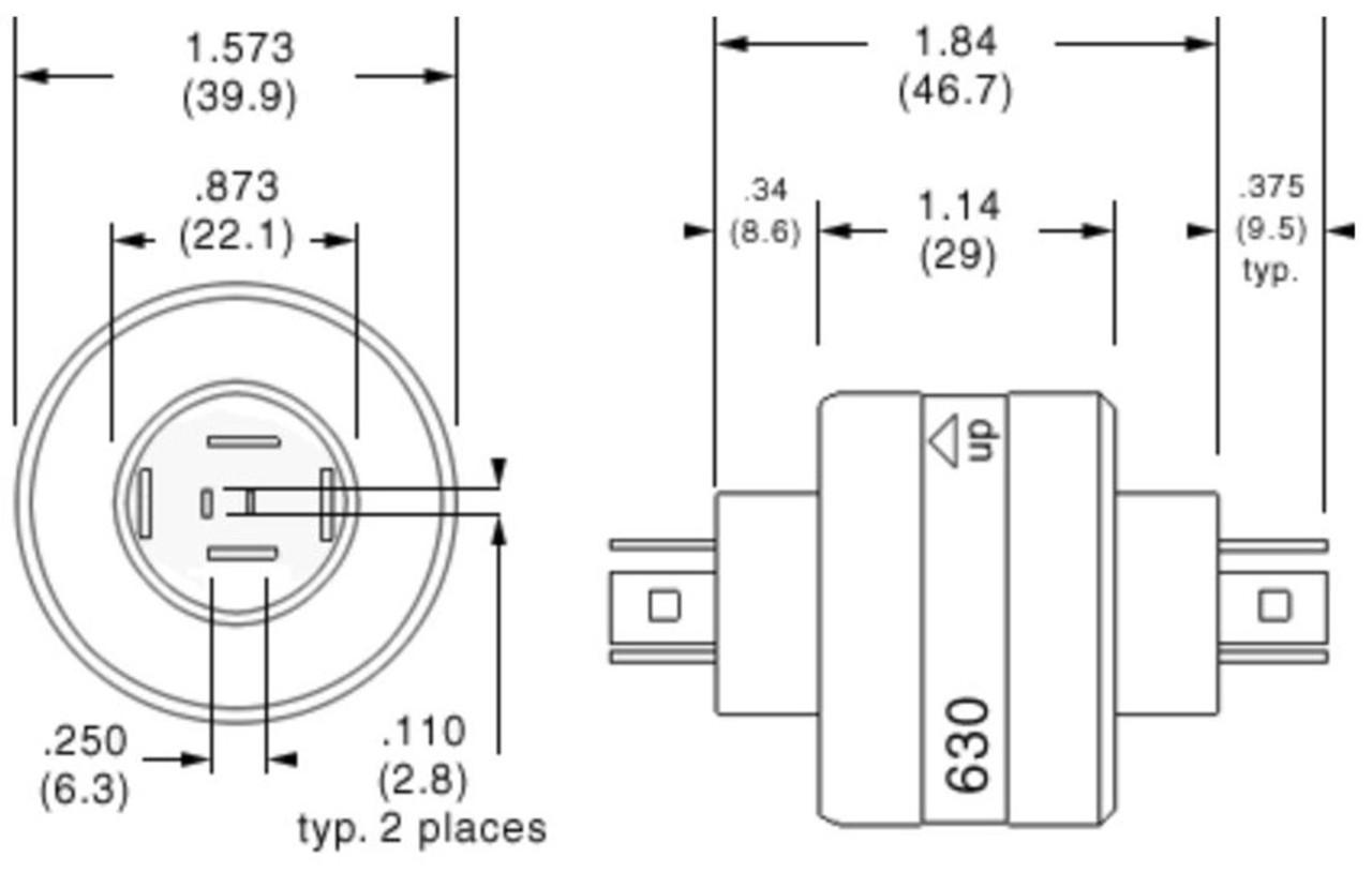 Mercotac 630 Slip Ring 6 Conductors 30 Amps per Circuit for Wind Turbine Generator