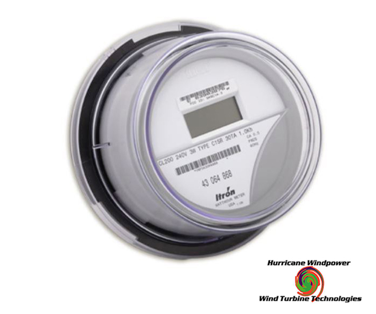 ITRON Kilowatt Hour Meter Form 2S LCD Digital 240VAC CL200 SP-IT-CENTRON-C1S