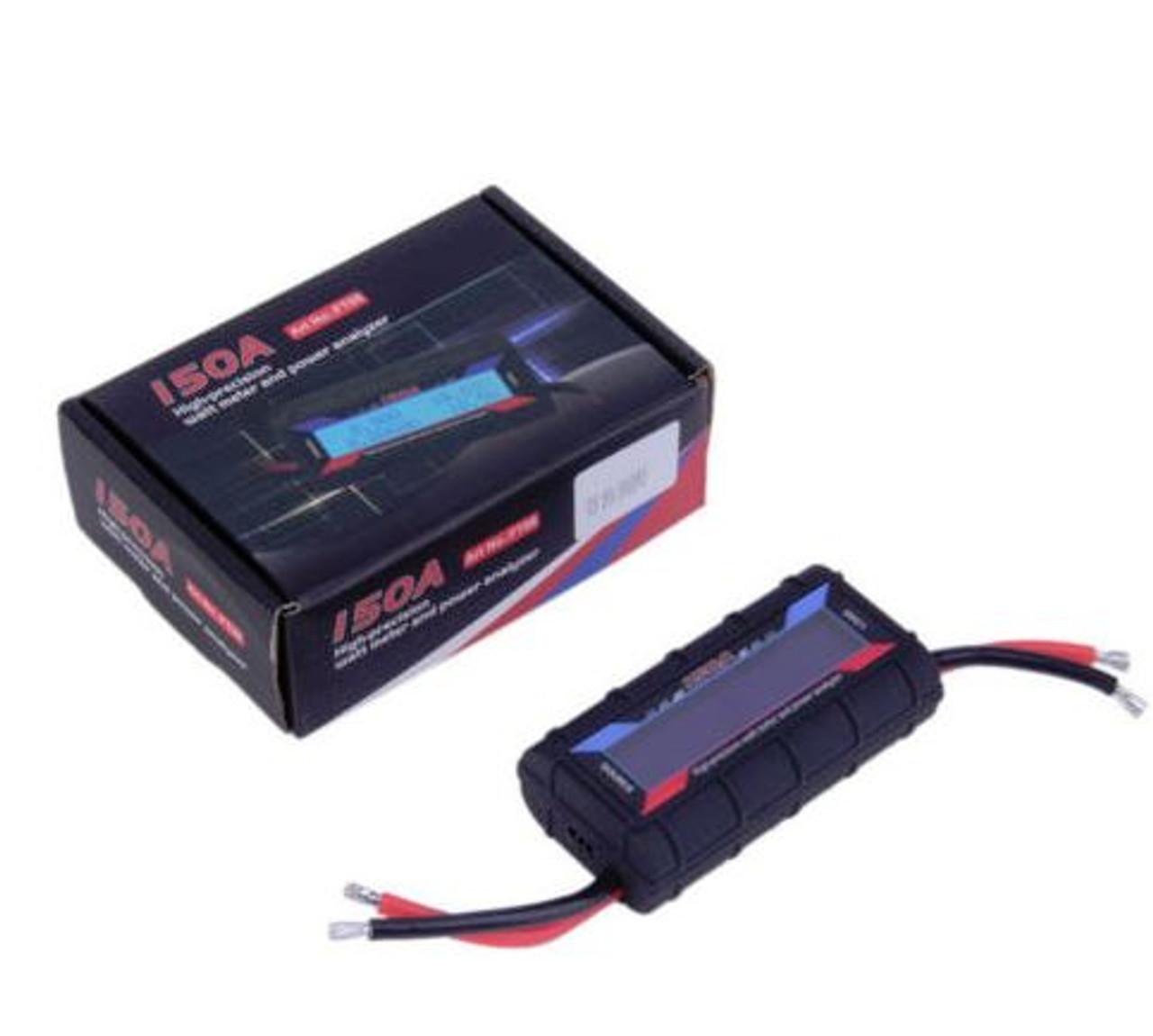 DC Inline 150 AMP Watt Meter with Special Heavy Gauge Wire for Wind on
