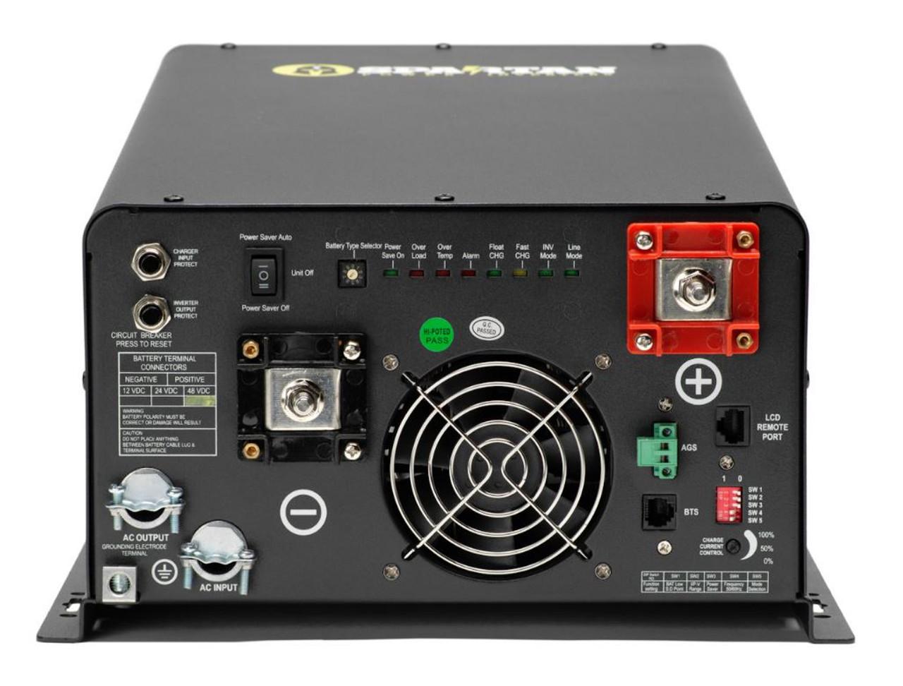 Spartan Power 6600 Watt 24V 120/240V Pure Sine Wave Inverter Charger SP-IC6624