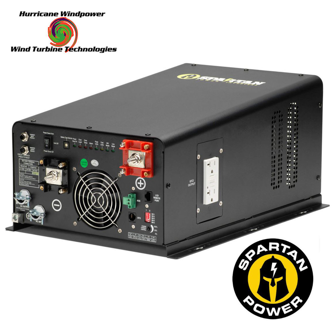 Spartan Power 4400 Watt 24V 120/240VAC Pure Sine Wave Inverter/Charger