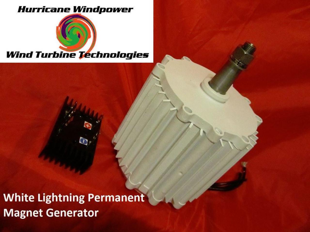 WIND GENERATOR WHITE LIGHTNING 12V 750W PERMANENT MAGNET GENERATOR HURRICANE