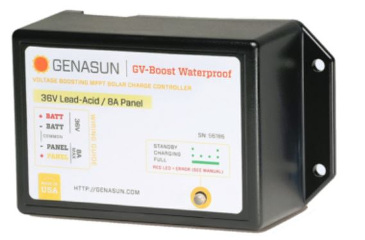 GENASUN GVB-8-Pb-36V-WP 8A 36V MPPT BOOST CHARGE CONTROLLER FOR GOLF CARTS