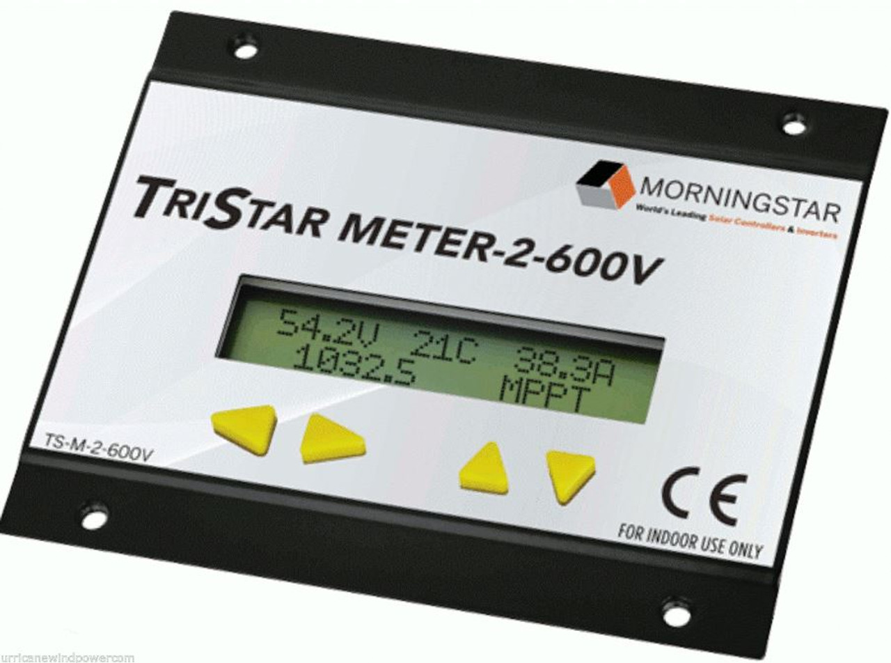 Morningstar Corp TS-M-2-600V TriStar Digital Meter Display for 600V Charge Controllers