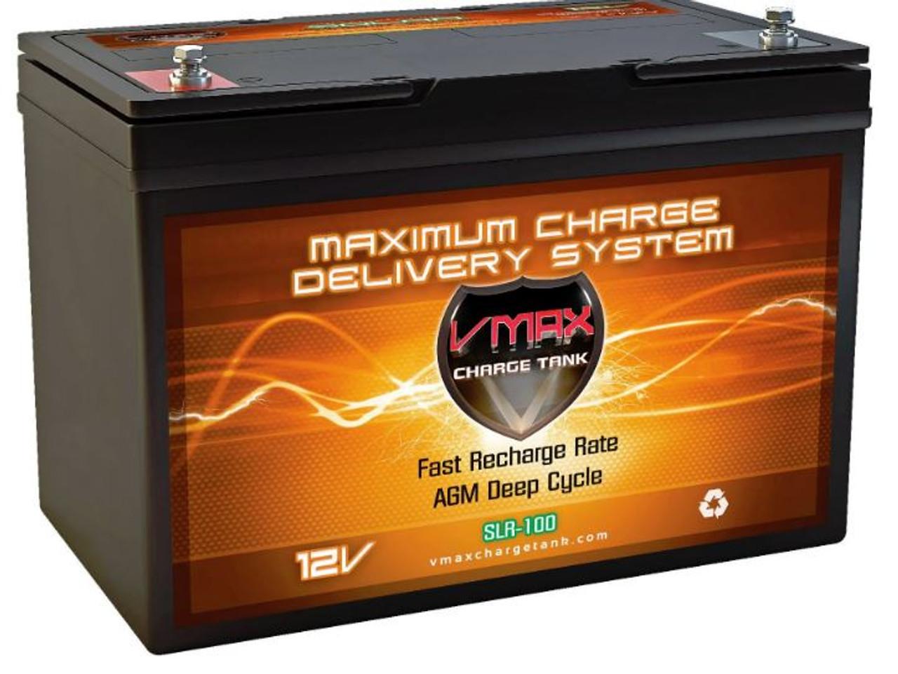 VMAX Charge Tank SLR100, 100AH Deep Cycle AGM Solar Battery