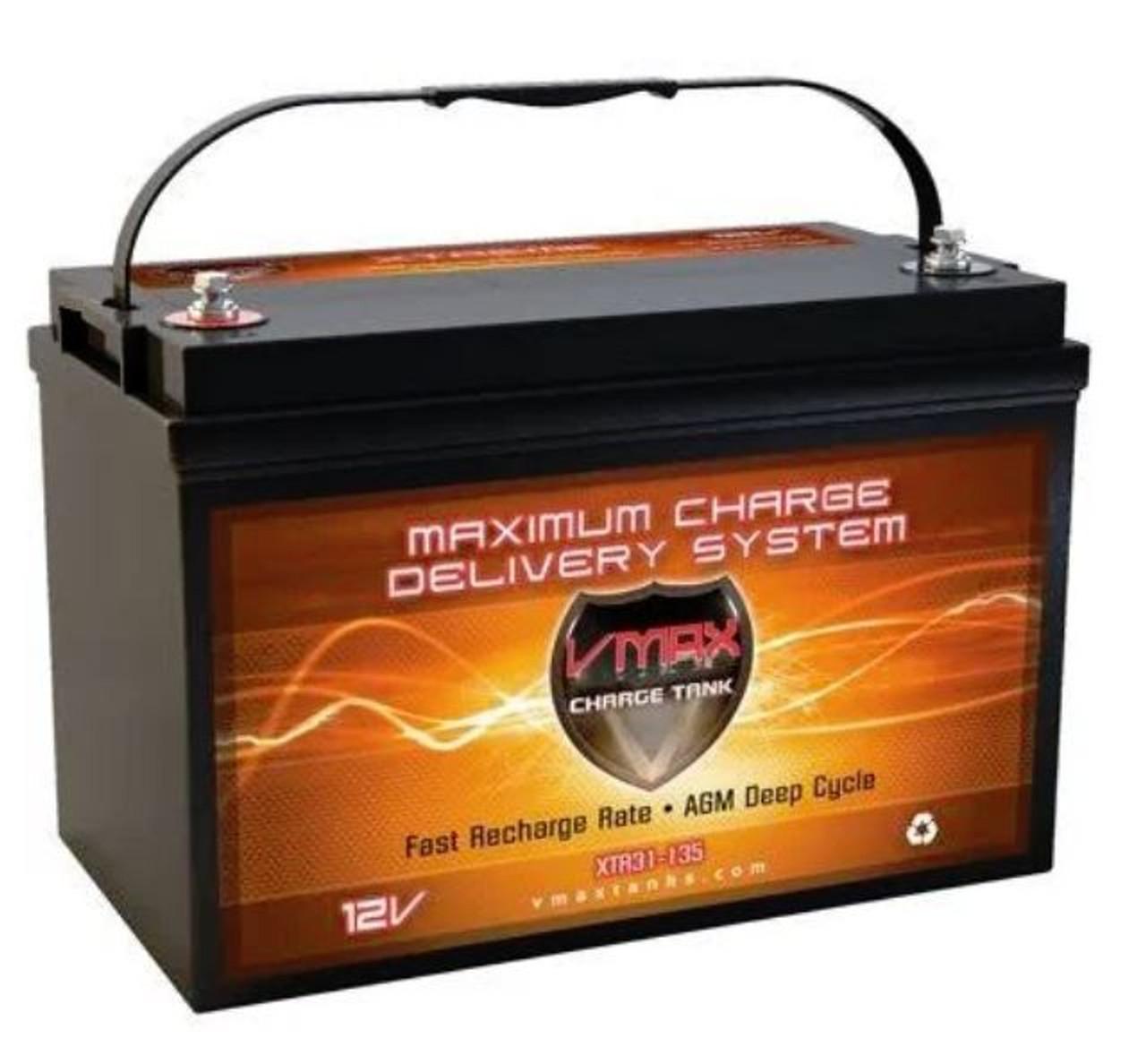 VMAX Charge Tank XTR31-135 12 Volts 135AH Deep Cycle, XTREME AGM Battery