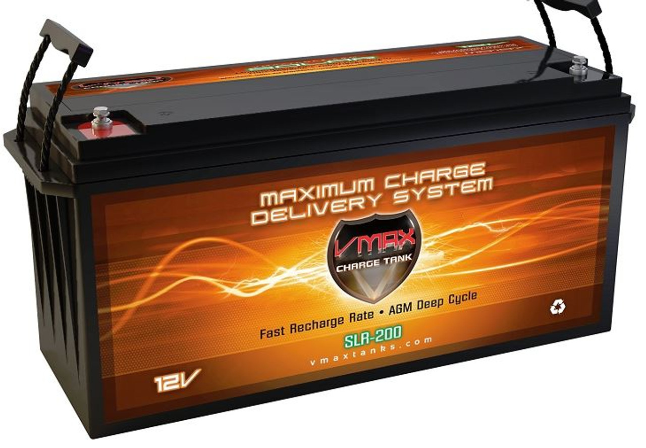 VMAX Charge Tank SLR200 12 Volts 200AH Deep Cycle, AGM Battery