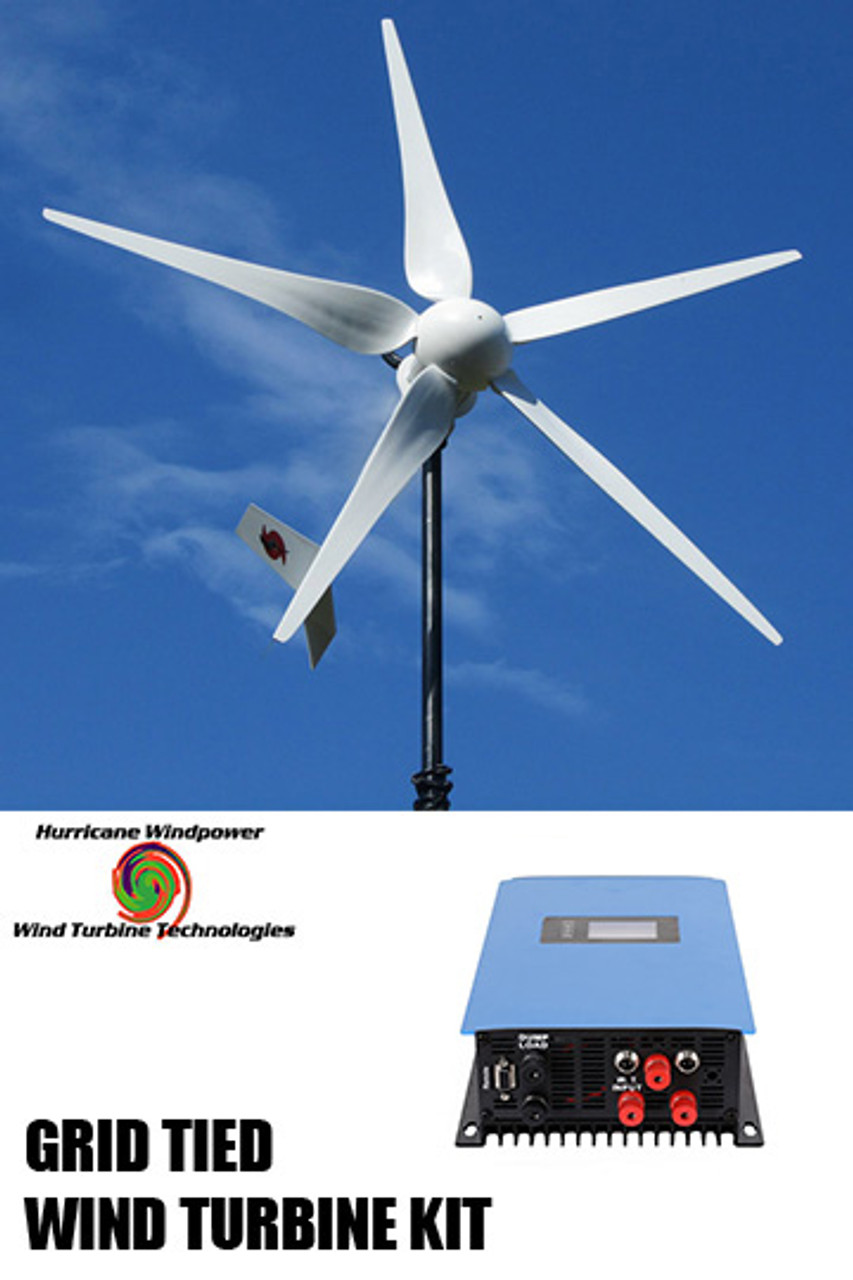 Hurricane Vector 48 Volt Grid Tied  Wind Turbine Generator Kit 1000 Watt,  Max 1500 Watts