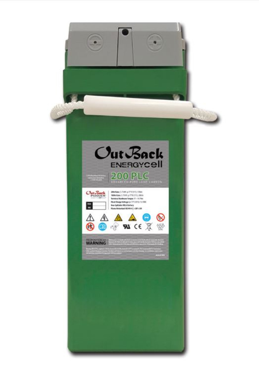 Outback EnergyCell 200PLC Pure Lead Carbon Battery 12V 200AH