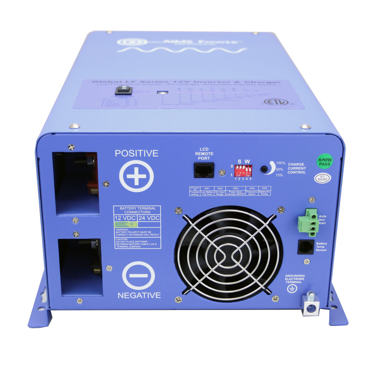 AIMS 1000 Watt Pure Sine Inverter Charger - ETL Certified Conforms to UL458 / CSA Standards
