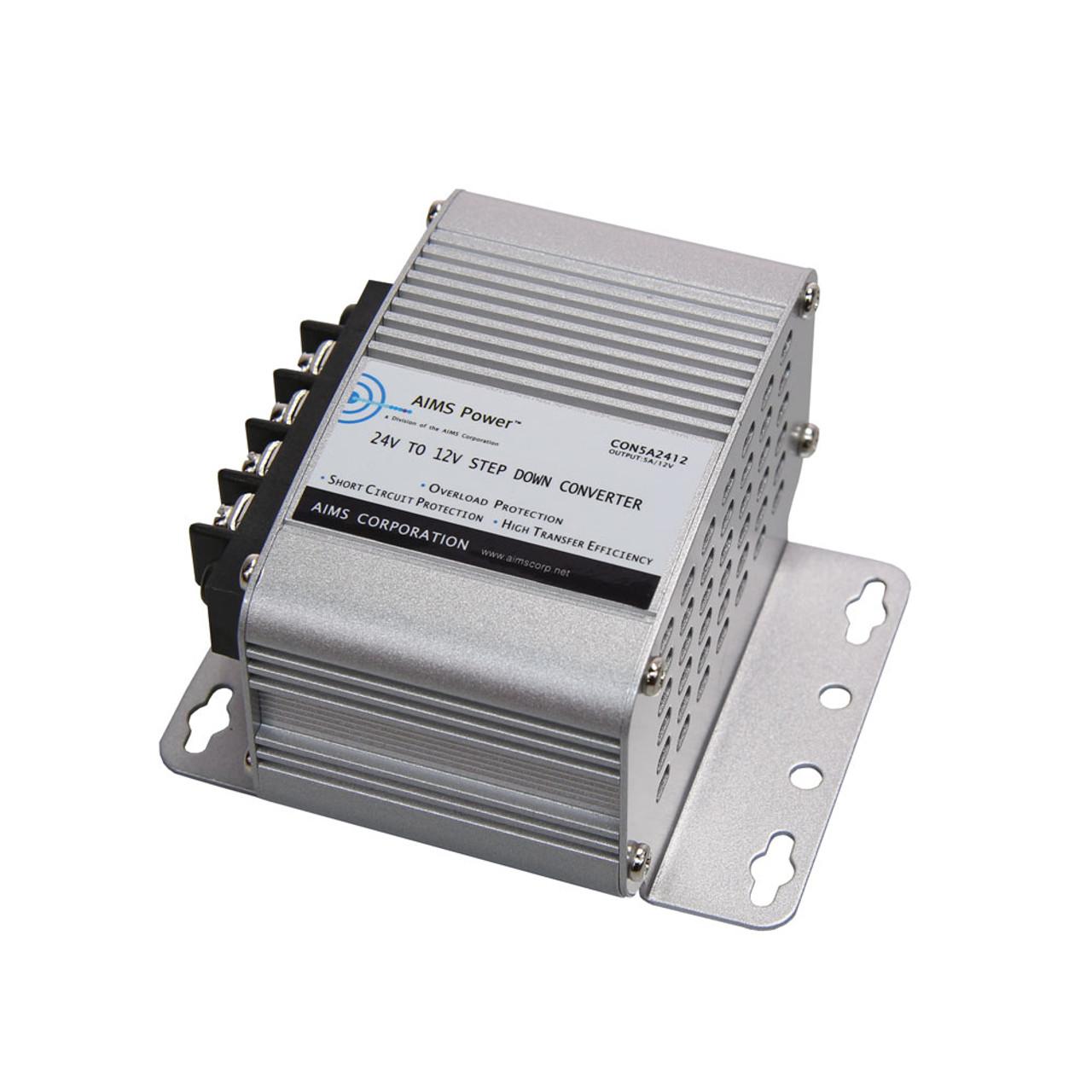 AIMS 5 Amp 24V to 12V DC-DC Converter