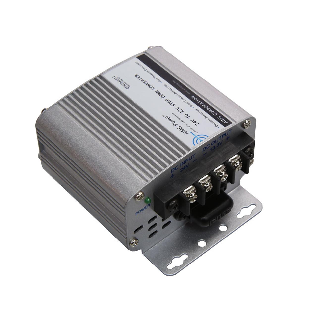 AIMS 10 Amp 24V to 12V DC-DC Converter