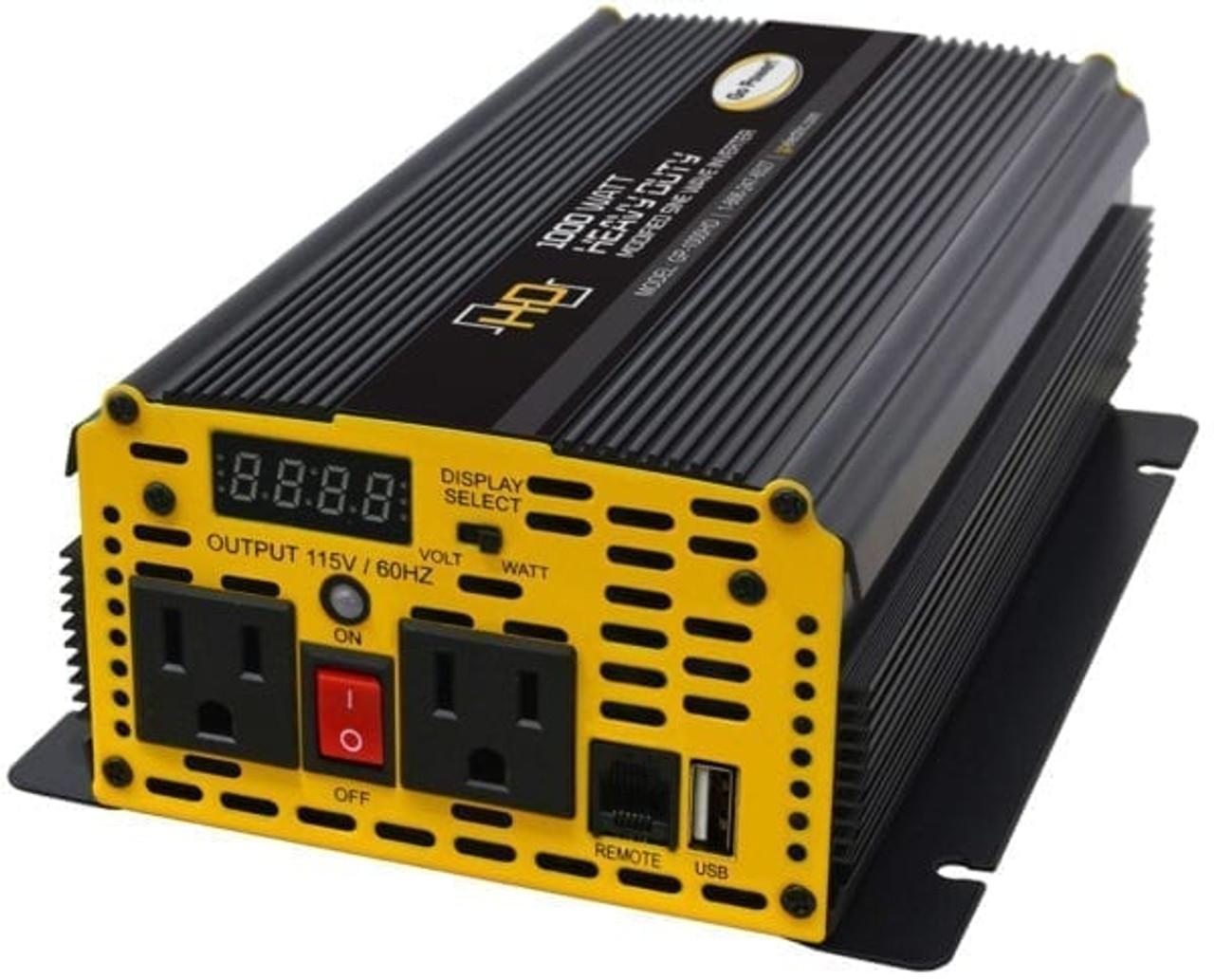 Go Power 1750 Watt Heavy-Duty Modified Sine Wave Inverter