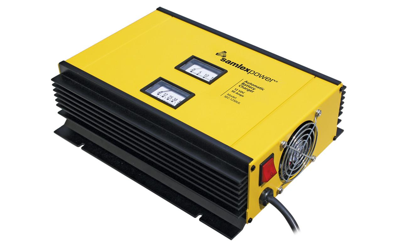 Samlex SEC-1250UL 12 Volt, 50 Amp Battery Charger