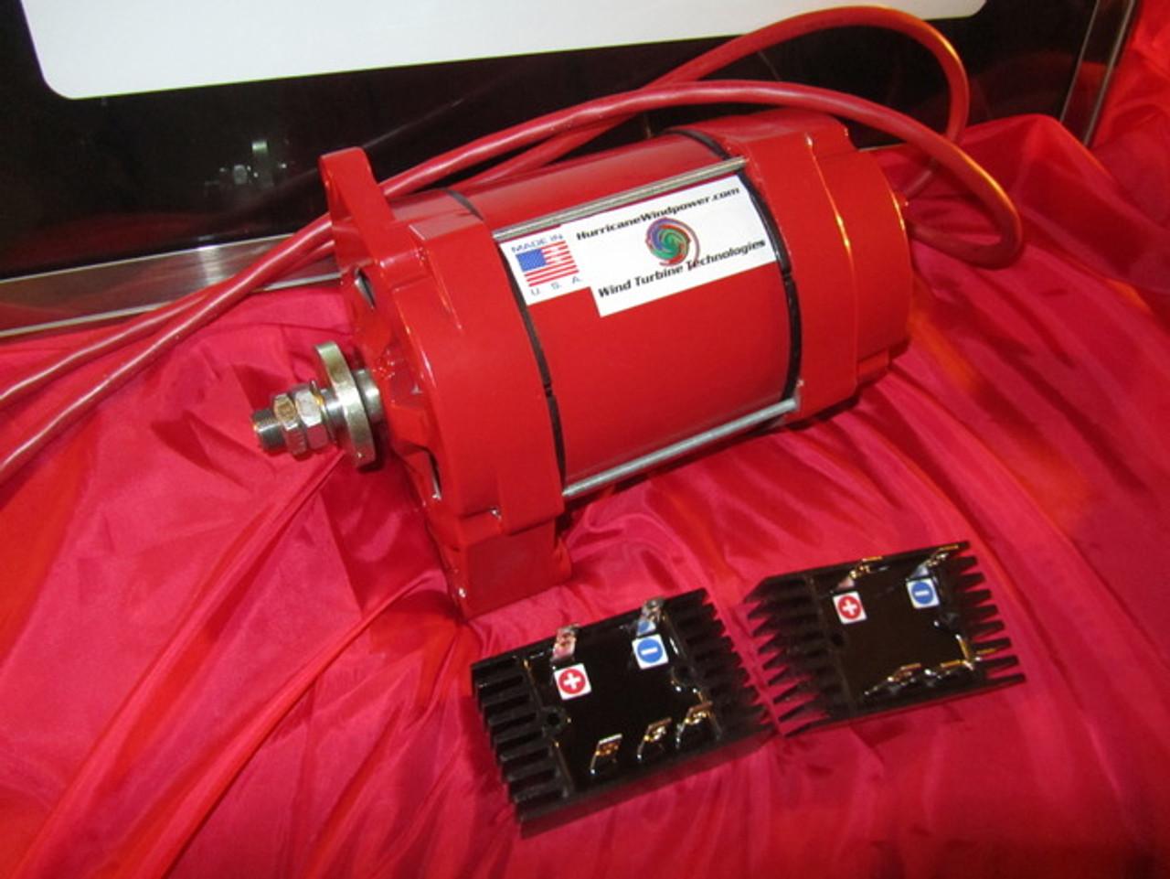 Hurricane Wind Power 12 -24 Volt Permanent Magnet Alternator PMA Dual Output Wind Generator