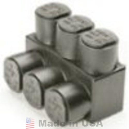 Burndy 1PL43 Multiple Wire Terminal Tap, Black UV Resistant