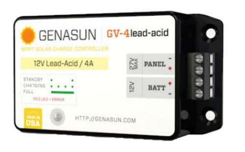 GENASUN GV-4-PB-12V, 4A MPPT CONTROLLER FOR 12V LEAD ACID BATTERIES