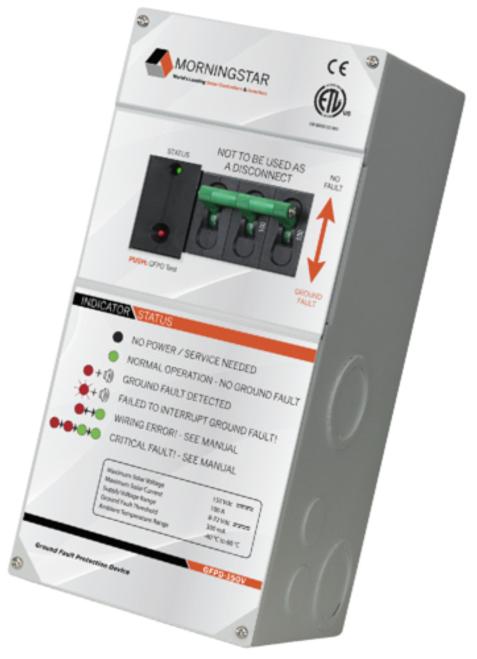 Morningstar GFPD-150V Ground Fault Protection Device 150V