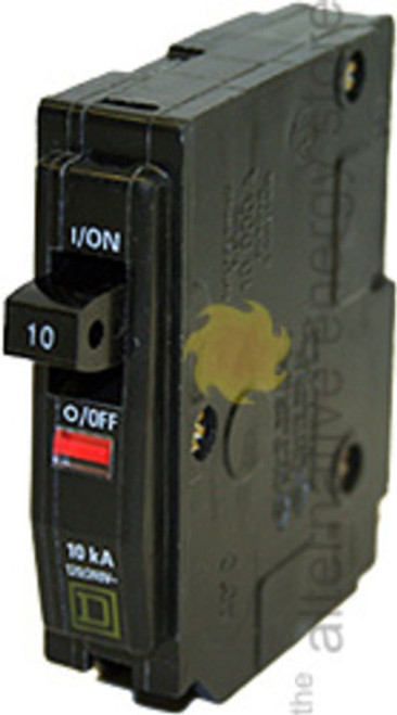 Square D QO110, 10 Amp, 1 Pole, Circuit Breaker
