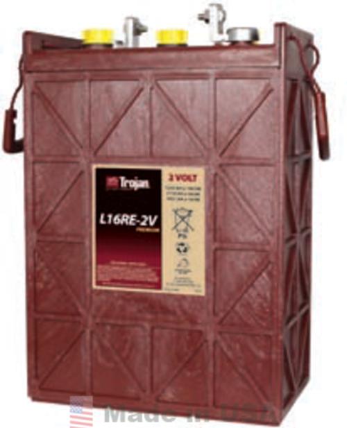 Trojan L-16-RE-2V 2V, 1110AH (20HR) Premium Line Flooded Battery