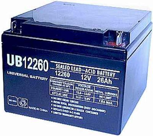 Universal Ub12260 12V, 26Ah (20Hr) Sealed Agm