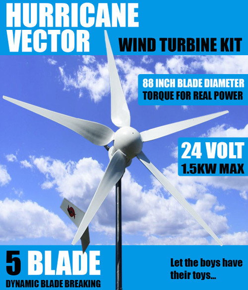 Home DIY Wind Generator Kit Hurricane Vector Wind Turbine 1000 Watt 24 Volt