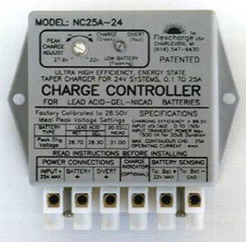 Flexcharge Solar Wind Hydro Turbine Charge Controller NC25A-36 Hybrid 12 Volt US