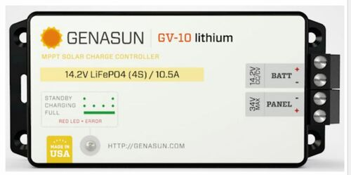 GENASUN GV-10-LI-14.2V MPPT CHARGE CONTROLLER FOR LITHIUM BATTERIES