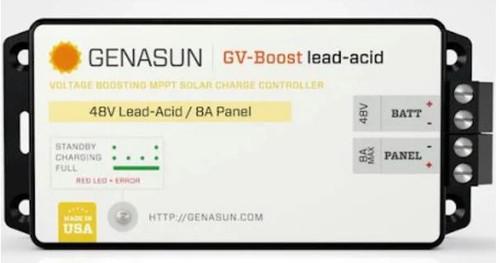 GENASUN GVB-8-Pb-48V-WP 8A 48V MPPT BOOST CHARGE CONTROLLER FOR GOLF CARTS