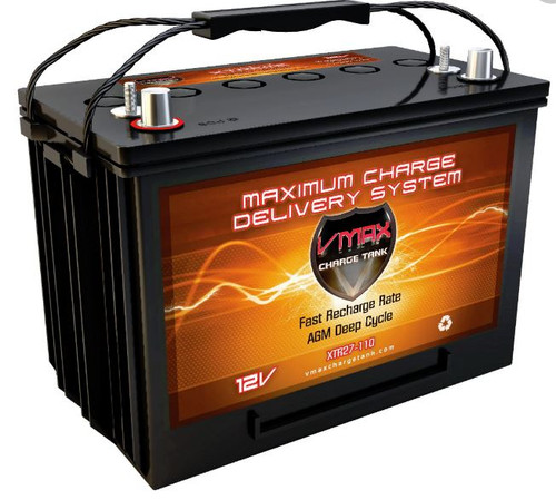 VMAX Charge Tank XTR27-110 12Volts 110AH Deep Cycle, XTREME AGM Battery