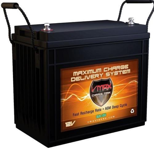 VMAX Charge Tank SLR155 12 Volts 155AH Deep Cycle, AGM Battery