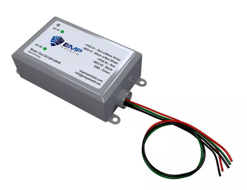 EMP Shield Dual 300-420 Volt DC for Solar Panel and Wind Generator Systems