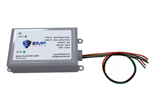 EMP Shield Dual 90-120 Volt DC for Solar Panel and Wind Generator Systems