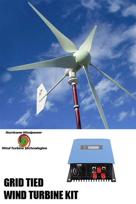 Hurricane XP 48 Volt Wind Turbine Generator Kit 1000 Watt  Max 1500 Watts Grid Tied System