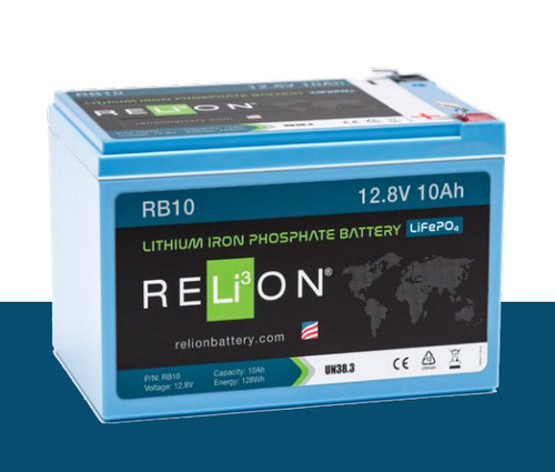 RELiON RB10 12V 10Ah Deep Cycle Lithium Iron Phosphate Battery LiFePO4