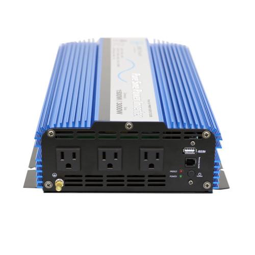 AIMS 1500 Watt Pure Sine Inverter 12Vdc ETL Listed to UL 458