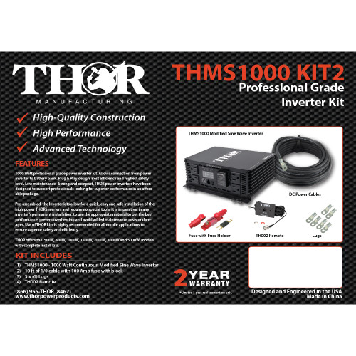 THMS1000 KIT2 Professional Grade Inverter KIT