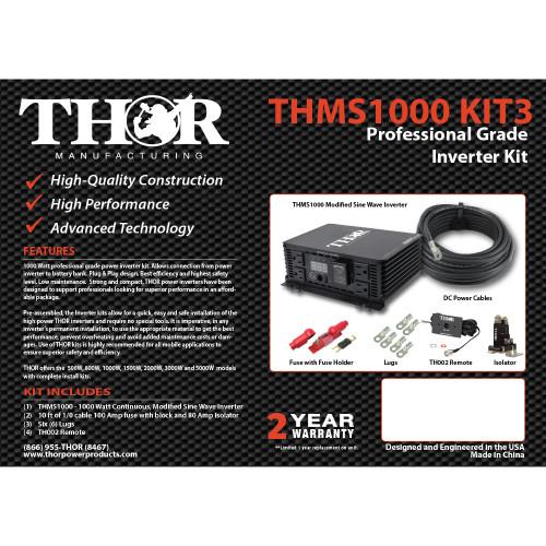 THOR THMS1000 KIT3 Professional Grade Inverter KIT