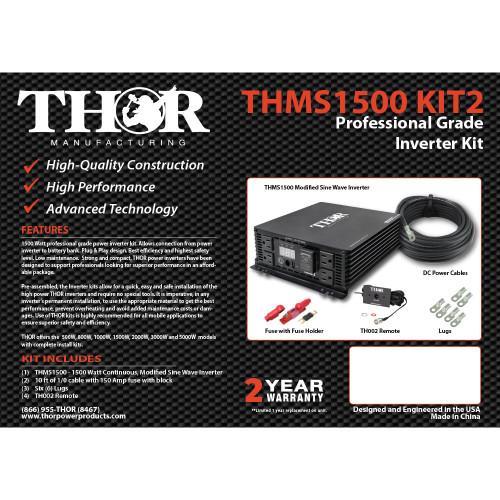 THOR THMS1500 KIT2 Professional Grade Inverter KIT