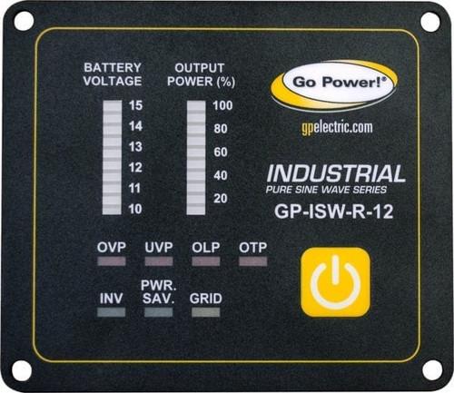 Go Power Industrial Pure Sine Wave Inverter Remote 12v