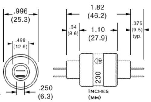 Mercotac 230 Slip Ring 2 Conductors 30 Amps per Circuit for Wind Turbine Generator