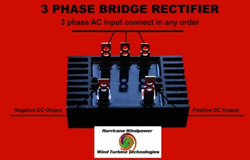 Rectifier for 3-Three Phase AC Wind Turbine Generator Heavy 100 Amp