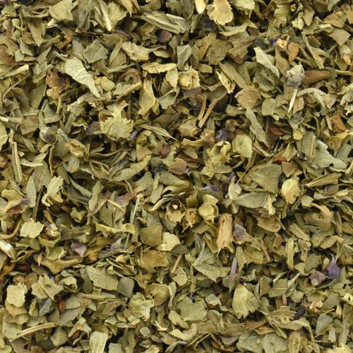 basil leaf, organic, cut & sifted