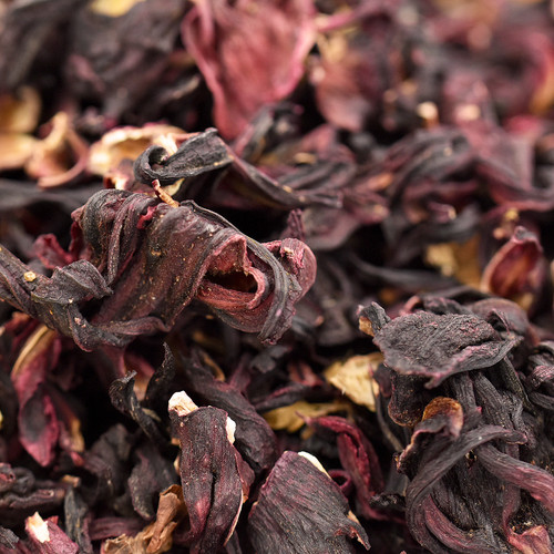 hibiscus flowers, whole, organic