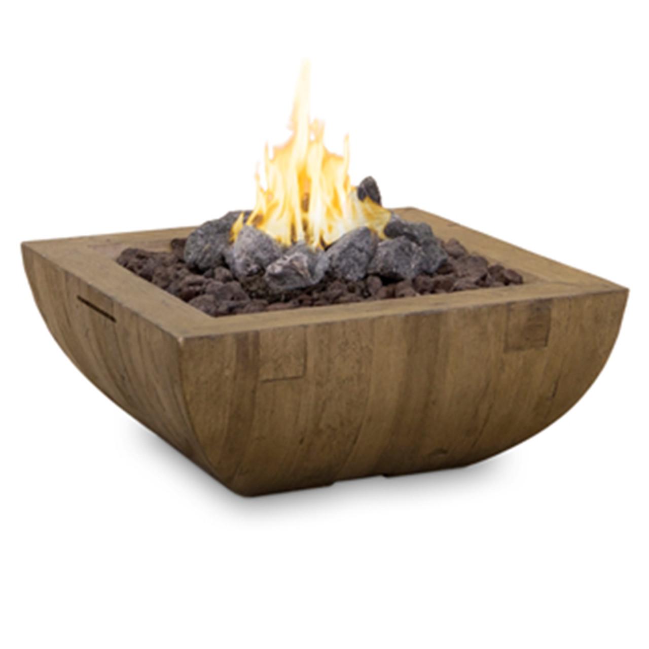 36 Bordeaux Square Reclaimed Wood Fire Bowl
