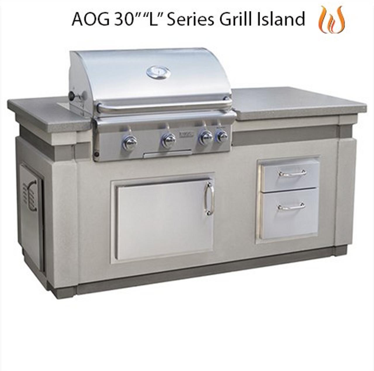 """AOG 30"""" """"L"""" Series Grill Island"""
