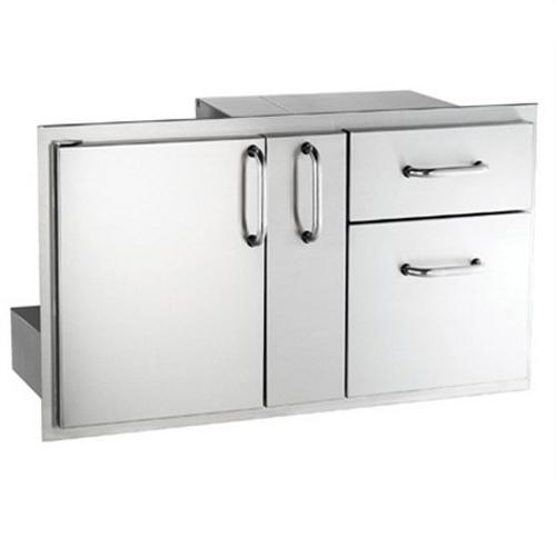 Access Door with Platter Storage & Double Drawer