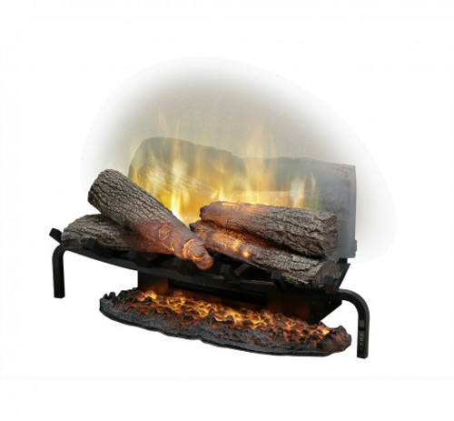 """25"""" Revillusion Masonry fireplace log set with Revillusion flame technology, Mirage flame panel, ThruView full-depth design, mood lighting and Realogs, 1,500 W/120 V. Includes multi-function remote control and ember mat. Ships in one carton"""