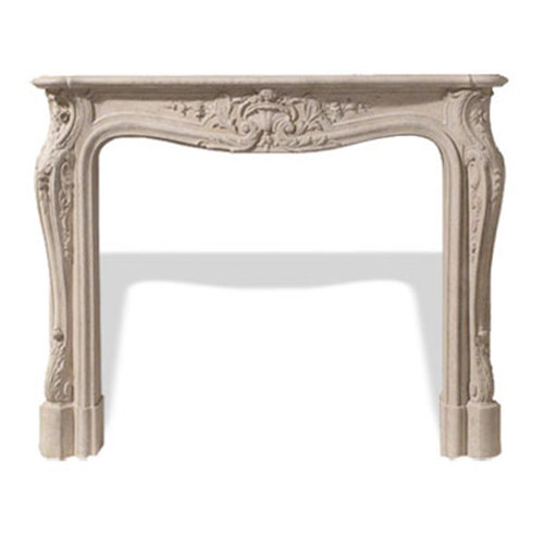 Dracme Louis XV Cast Stone Mantle