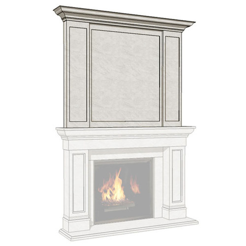 Dracme Elite Cast Stone Uppermantel